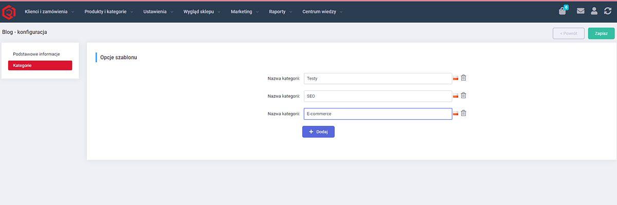 Testy modułów blogowych w e-sklepach: RedCart.pl