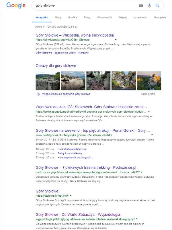 Obrazy w wyniku wyszukiwania frazy góry stołowe w Google